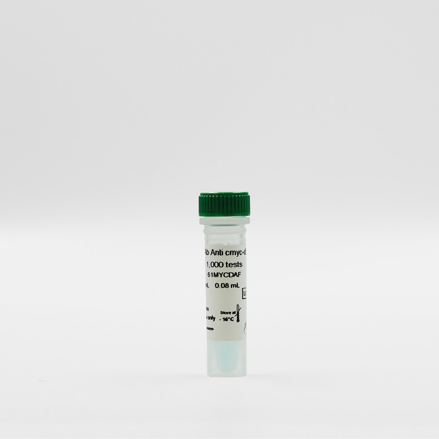 Photography of the MAb Anti cmyc-d2 vial